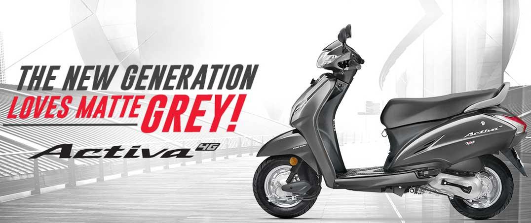 Honda Activa 4G màu xám mờ, giá chỉ 18 triệu đồng