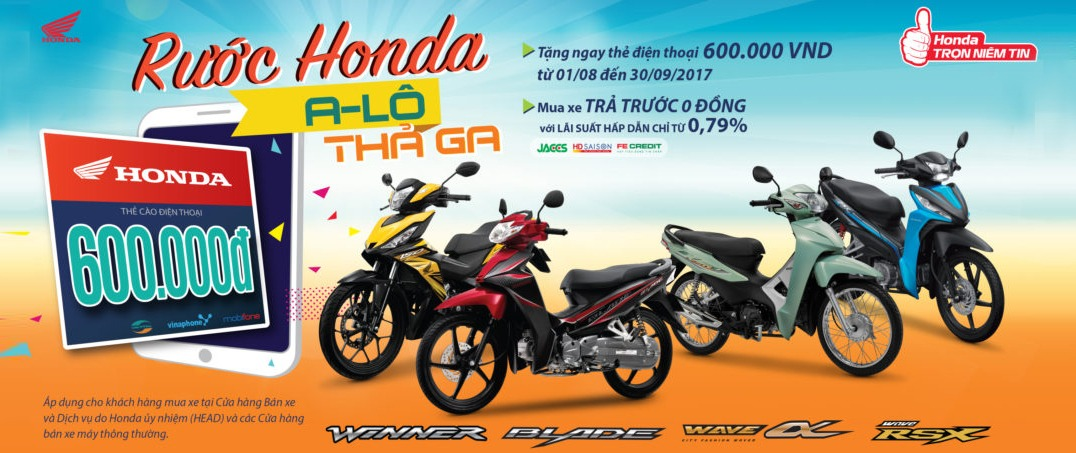Rinh quà hấp dẫn cùng những mẫu xe của Honda Việt Nam