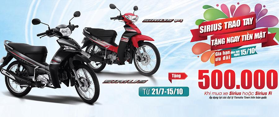 """Yamaha Motor Việt Nam thông báo gia hạn chương trình khuyến mãi """"Sirius trao tay, tặng ngay tiền mặt"""""""