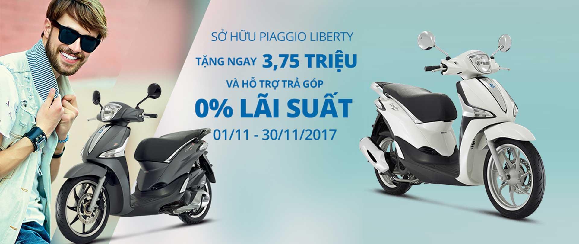 Sở hữu Liberty tặng ngay 3,75tr và hỗ trợ trả góp 0 phần trăm lãi suất