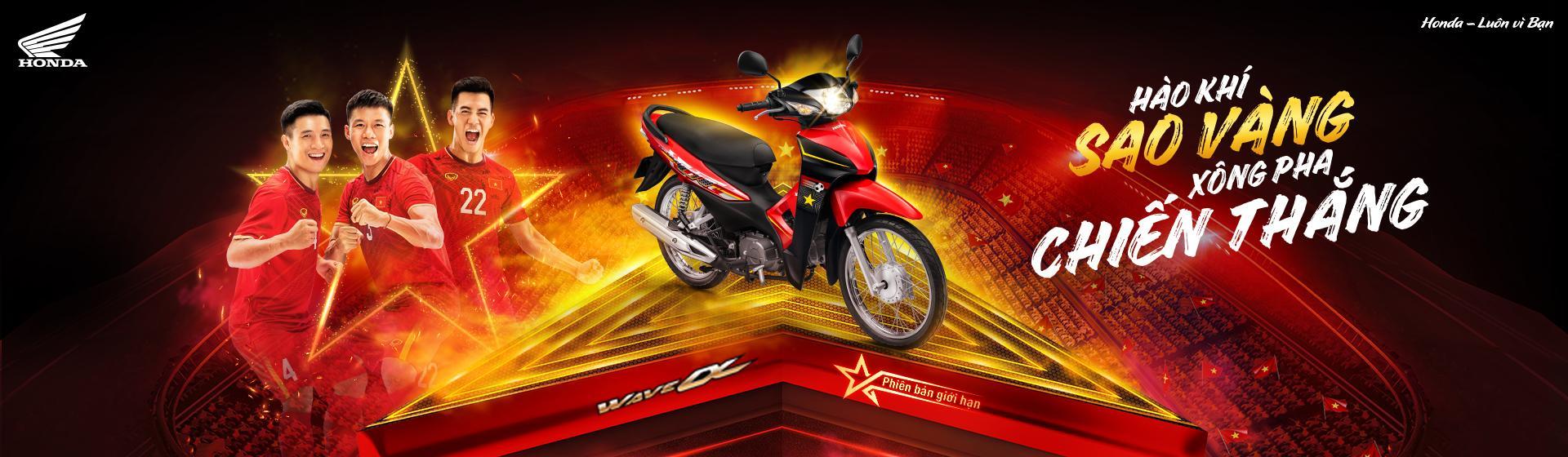 """Honda Việt Nam ra mắt phiên bản giới hạn Wave Alpha 110cc – """"Hào khí sao vàng, xông pha chiến thắng"""""""