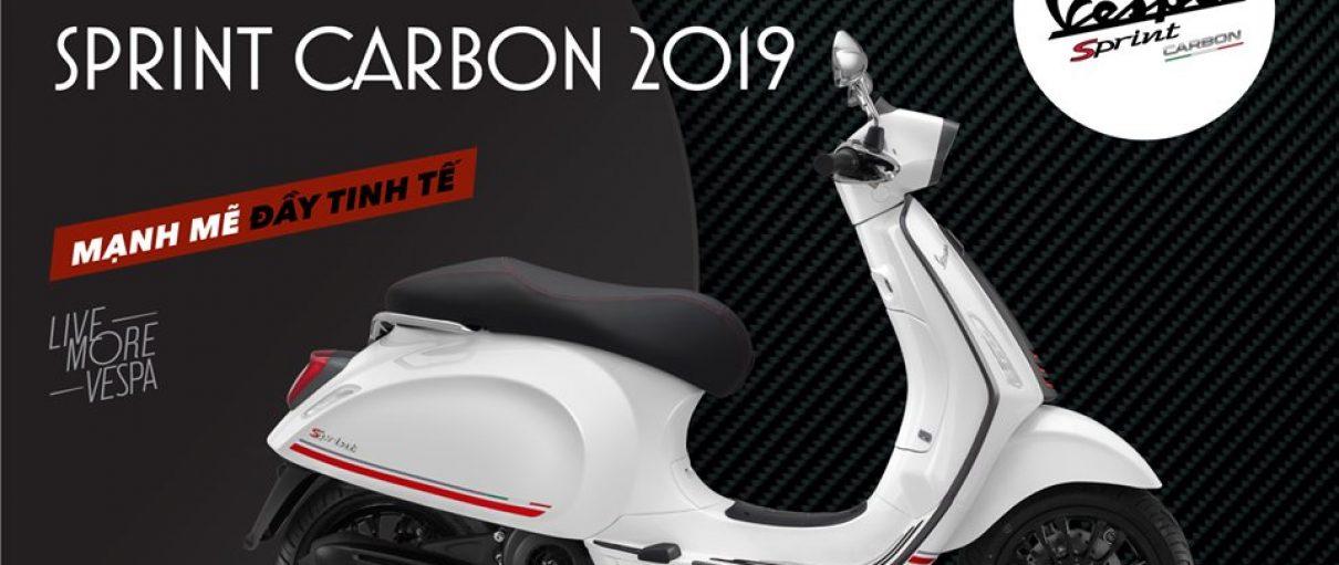 Vespa Sprint Carbon 2019 giá 78,5 triệu đồng