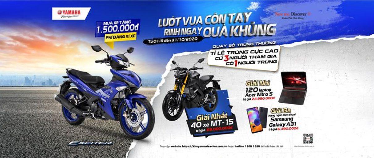 Yamaha Town Vạn Phong tổng hợp chương trình khuyến mại đặc biệt trong tháng 8.