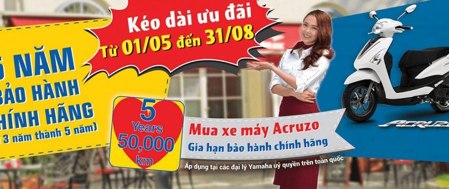 Yamaha Motor Việt Nam Kéo Dài Ưu Đãi Dành Cho Xe Ga Acruzo