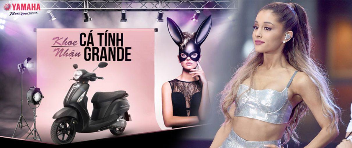 Cùng Ariana Grande rinh xe Yamaha Grande về nhà