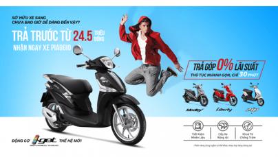 Sở hữu xe Piaggio – Vespa thật dễ dàng
