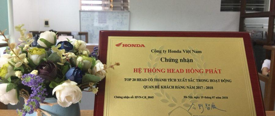 HỆ THỐNG HEAD HỒNG PHÁT VINH DỰ CÓ THÀNH TÍCH XUẤT SẮC TRONG HOẠT ĐỘNG QHKH 2017-2018