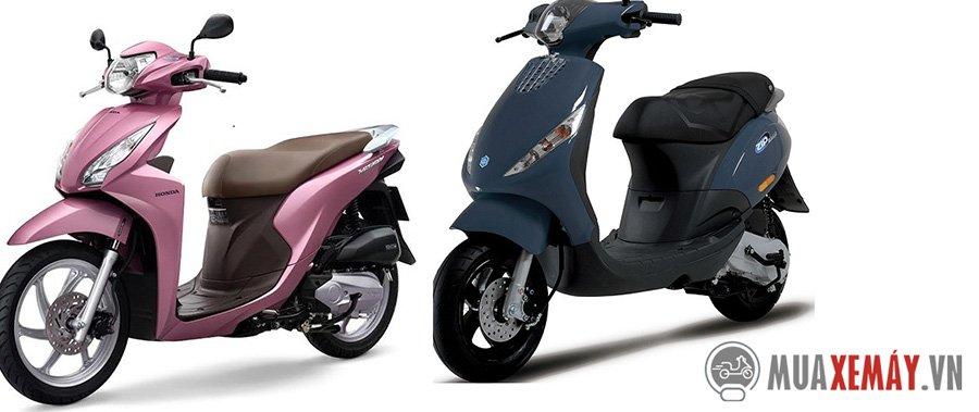Honda Vision và Piaggio Zip nên mua xe nào?