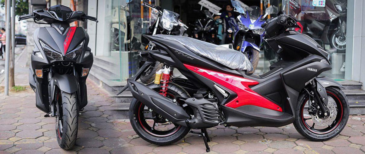 Yamaha NVX 155 bản đặc biệt thay giảm xóc, phối màu mới
