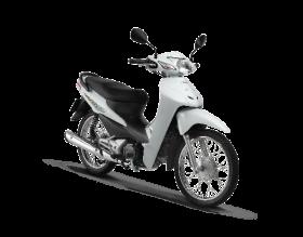 Honda Wave Alpha 100cc - trắng đen bạc