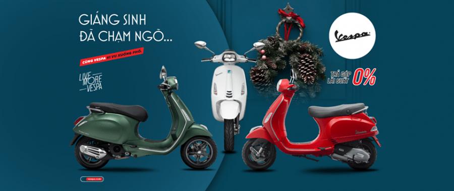Chương trình ưu đãi xe máy Piaggio – Vespa Tháng 12/2019